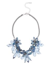 Coast | Blue Floral Necklace | Lyst