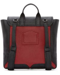 3.1 Phillip Lim - Red Black And Crimson Leather Pashli Backpack - Lyst