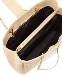 Saint Laurent - Natural Chevron-Quilted Leather Shoulder Tote Bag - Lyst