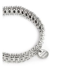 Philippe Audibert - Gray Palms Engraved Bead Elasticated Bracelet - Lyst