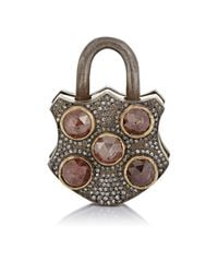 Sevan Biçakci | Metallic Women's Mixed-diamond Padlock | Lyst