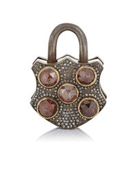 Sevan Biçakci - Metallic Women's Mixed-diamond Padlock - Lyst