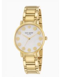 kate spade new york | Metallic Gramercy Gold Dot Watch | Lyst