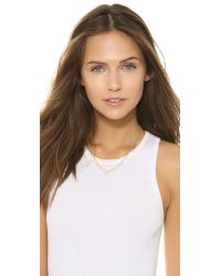 Chan Luu - Metallic Mother Of Pearl Necklace - White - Lyst