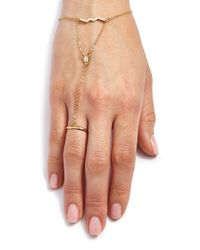 Rebecca Minkoff | Metallic Geometric Hand Chain | Lyst