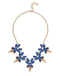 Ted Baker | Blue 'arnah' Frontal Arrow Necklace | Lyst