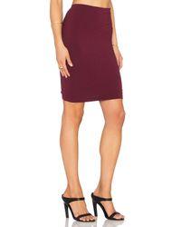 Bobi - Purple Cotton Lycra Pencil Skirt - Lyst