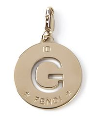 Fendi - Metallic G Id Charm - Lyst