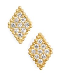 Freida Rothman - Metallic 'femme' Stud Earrings - Lyst