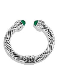 David Yurman - Metallic Cable Classics Bracelet With Green Onyx - Lyst