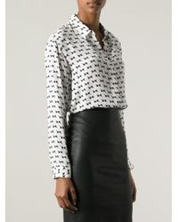 Theory - White Printed Shirt - Lyst