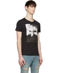 Saint Laurent - Gray Grey And Black Bombhead Bruce Connor Edition T_shirt for Men - Lyst