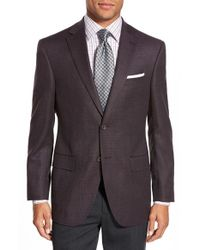 David Donahue - Purple 'connor' Classic Fit Solid Stretch Wool Sport Coat for Men - Lyst