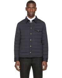 Moncler Gamme Bleu - Blue Navy Shirt Jacket for Men - Lyst