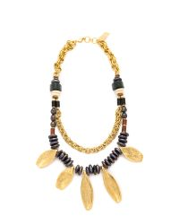 Lizzie Fortunato - Black Moroccan Sun Necklace - Gold Multi - Lyst