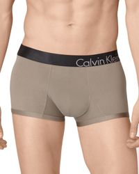Calvin Klein - Gray Low Rise Trunks for Men - Lyst
