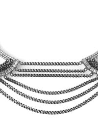DANNIJO - Metallic Silver-plated Angus Swarovski Chain Choker Necklace - Lyst
