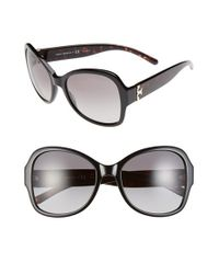 Tory Burch | Black 58mm Butterfly Sunglasses | Lyst