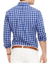 Polo Ralph Lauren - Blue Plaid Poplin Shirt for Men - Lyst