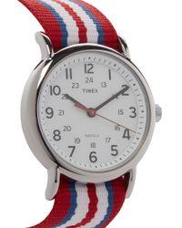 Timex - Red Weekender Slip Thru Watch  for Men - Lyst