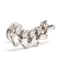 Yvonne Léon | 18kt White Gold And Diamond Earring | Lyst