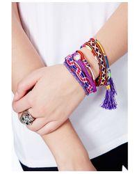 Missguided - Latica Braid Bracelet in Purple - Lyst