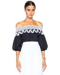 Peter Pilotto | Blue Pallas Blouse | Lyst