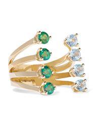 Delfina Delettrez - Green 9-karat Gold Topaz Ring - Lyst