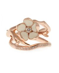 Shaun Leane - Pink Diamond & Rose Gold-plated Set Of Two Rings - Lyst
