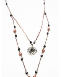 Free People | Pink Womens Double Layer Rosary | Lyst