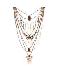 Lucky Brand - Metallic Goldtone Drama Layered Necklace - Lyst