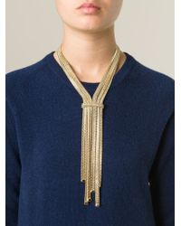 Rosantica - Metallic Multiple Chain Knot Necklace - Lyst