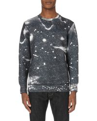 DIESEL | Black S-joe-zips Neoprene Sweatshirt for Men | Lyst