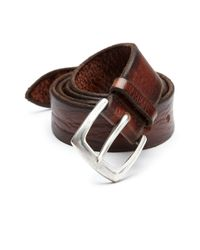 Orciani | Brown Distressed Leather Belt for Men | Lyst