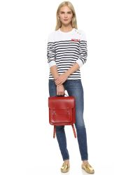 Cambridge Satchel Company - Red Small Portrait Backpack - Lyst