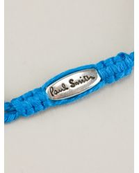 Paul Smith - Blue Doubled Beaded Bracelet for Men - Lyst
