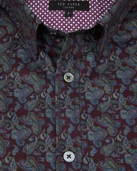 Ted Baker | Red Paisley Print Shirt for Men | Lyst