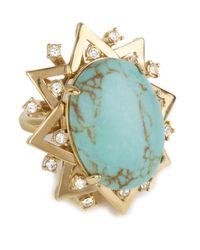 Lele Sadoughi | Blue Sunshine Ring, Turquoise | Lyst