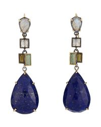 Nak Armstrong - Blue Gemstone Drop Earrings - Lyst