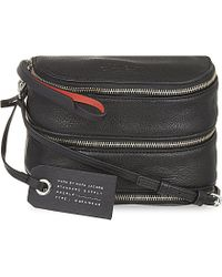 Marc By Marc Jacobs | Black Serpentine Reversible Leather Can Shoulder Bag | Lyst