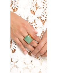 Rachel Zoe | Metallic Safari Rectangle Ring | Lyst