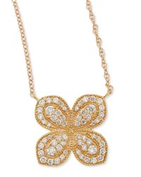 Jamie Wolf | Metallic Rose Gold Pavé Scalloped Flower Necklace With Diamonds | Lyst