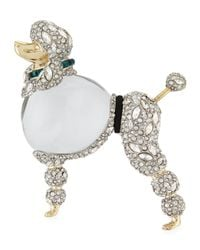 Alexis Bittar | Metallic Lucite Jelly Belly Poodle Pin | Lyst