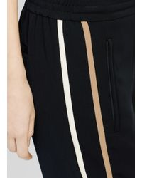 Vince - Black Double Striped Jogger - Lyst