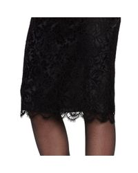 Ralph Lauren Black Label - Black Fallon Lace Pencil Skirt - Lyst