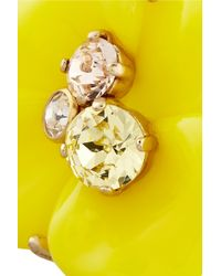 Nina Ricci - Yellow Goldtone Resin and Crystal Ring - Lyst