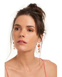 Trina Turk | Orange Cabochon Linear Drop | Lyst