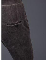 Poeme Bohemien - Black Ribbed Sweatpants for Men - Lyst