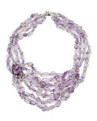 Alexis Bittar Fine - Purple Multi-Strand Amethyst Marquis Cluster Necklace - Lyst