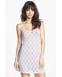 Only Hearts | White Stretch Lace Chemise | Lyst
